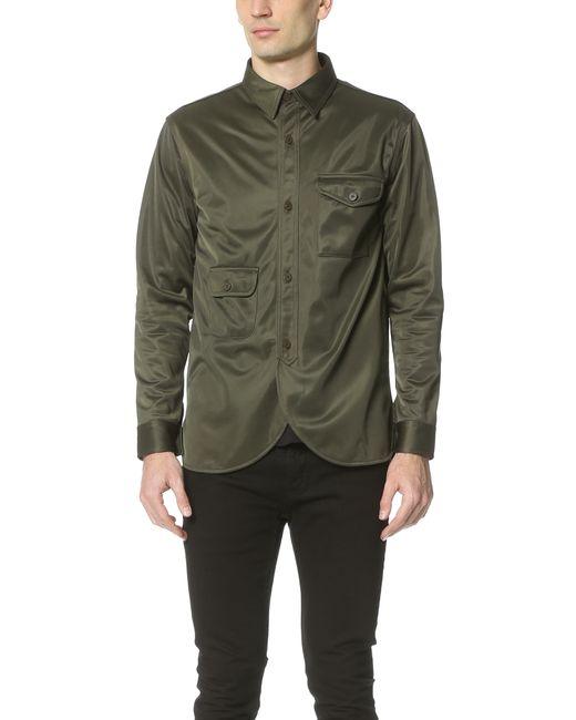 Han Kjobenhavn Army Shirt In Green For Men Army Green
