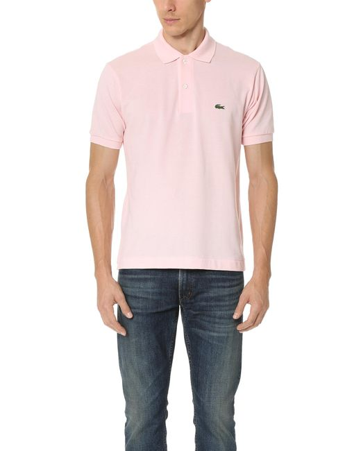 Lacoste | Pink Short Sleeve Classic Polo Shirt for Men | Lyst