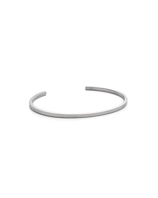 Le Gramme | Le 7 Grammes Brushed Black Silver Cuff for Men | Lyst