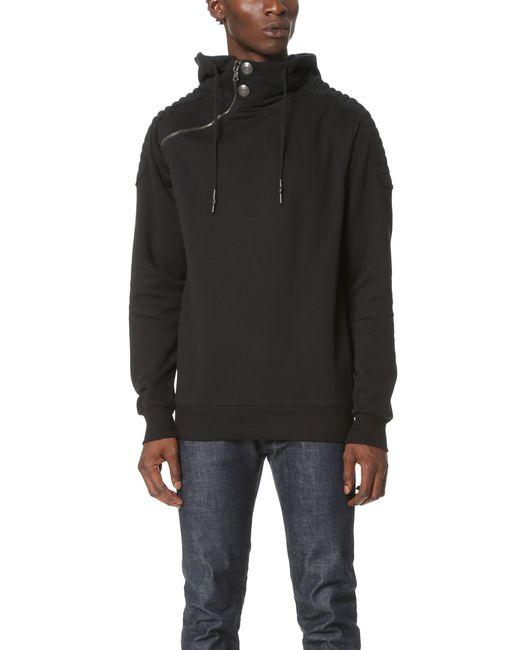 Balmain | Black Hooded Sweatshirt for Men | Lyst