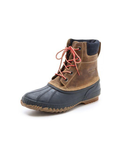 Sorel | Brown Cheyanne Full Grain Boots for Men | Lyst