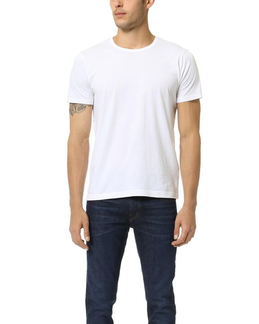 Splendid Mills | White Pigment Dyed Crew Neck Tee for Men | Lyst