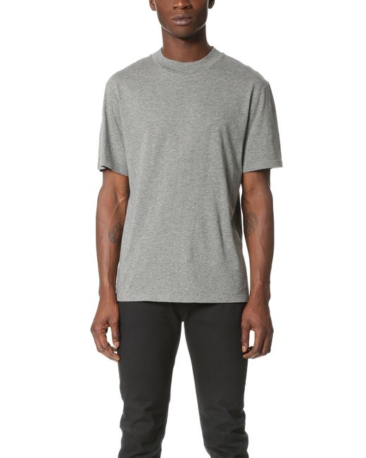 T by alexander wang short sleeve high crew neck tee in for High crew neck t shirts