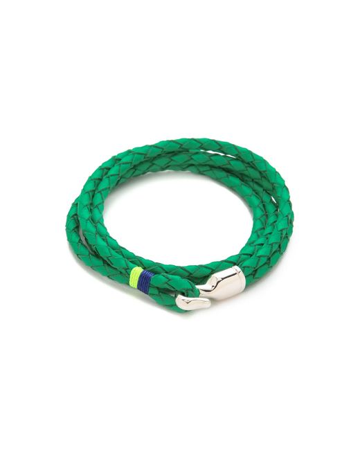 Miansai | Green Trice Woven Leather Wrap Bracelet for Men | Lyst