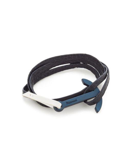 Miansai | Blue Modern Anchor Two Tone Wrap Bracelet for Men | Lyst