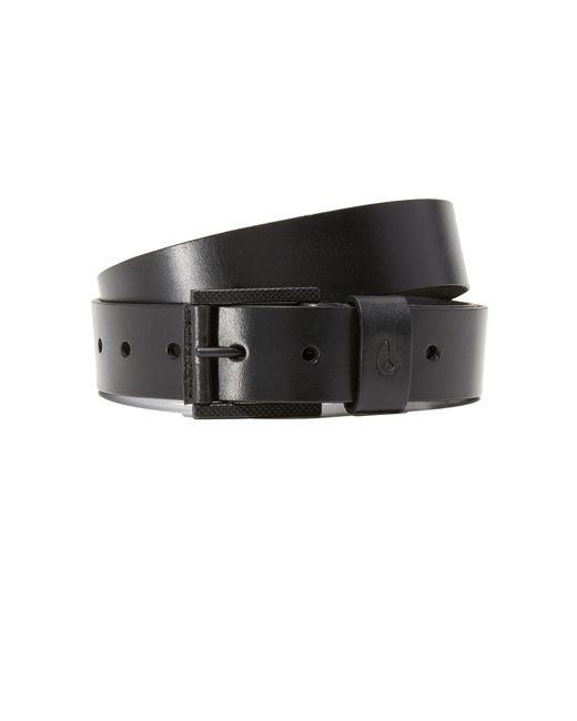 nixon americana slim leather belt in black for lyst