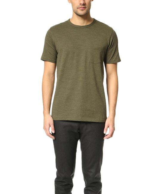 Rag & Bone | Green Standard Issue Pocket Tee for Men | Lyst