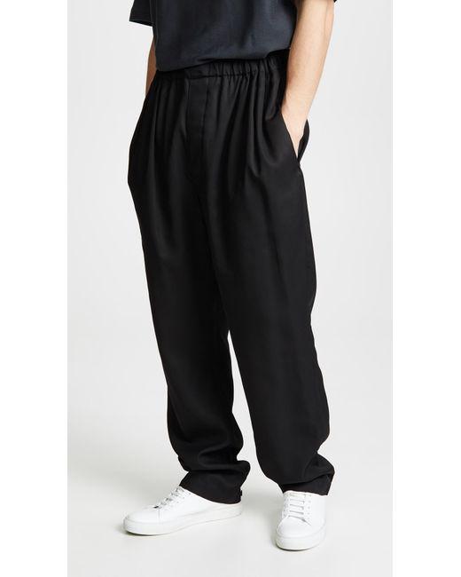 Lemaire - Black Large Elasticated Pants for Men - Lyst