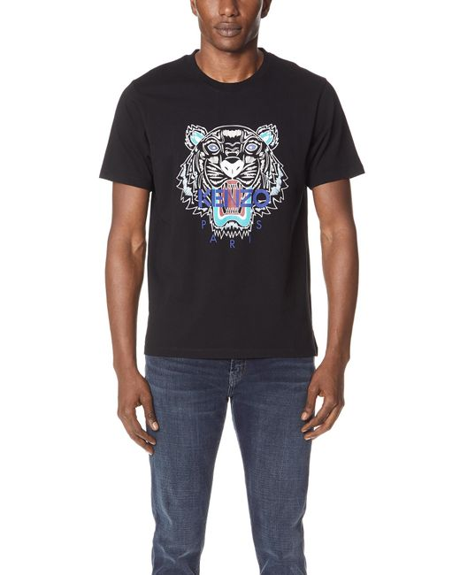4c3757dd KENZO - Black Tiger T-shirt for Men - Lyst ...