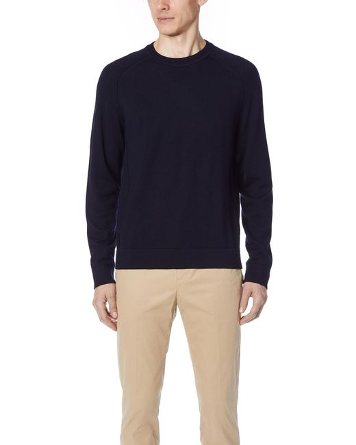 Vince - Blue Seamed Crew Sweater for Men - Lyst