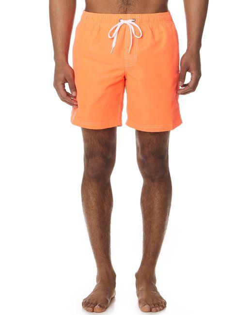 Sundek - Orange Long Fixed Waist Board Shorts for Men - Lyst