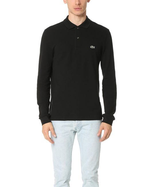 Lacoste | Black Long Sleeve Classic Polo Shirt for Men | Lyst