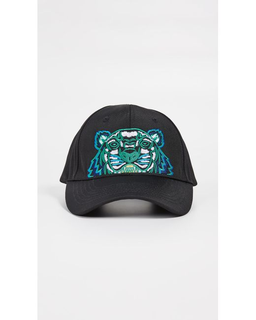 KENZO - Black Kanvas Tiger Cap for Men - Lyst