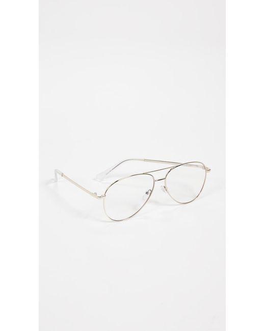 9ba5453304 ... Quay - Metallic Still Standing Blue Light Blocker Glasses for Men - Lyst  ...