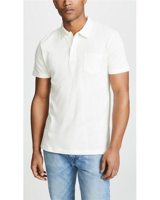 d3f8d4f2 Sunspel - White Short Sleeve Riviera Polo Shirt for Men - Lyst ...