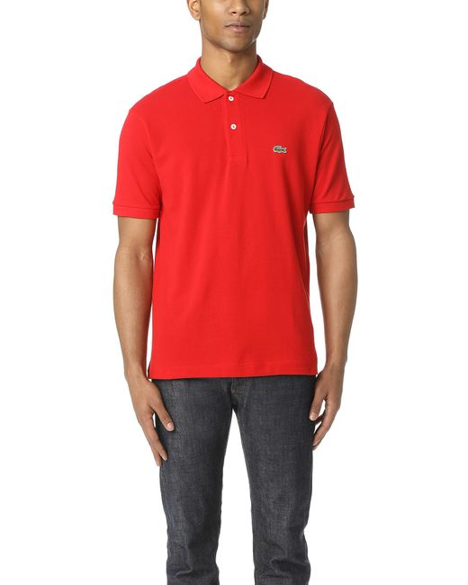 Lacoste - Red Short Sleeve Classic Pique Polo for Men - Lyst