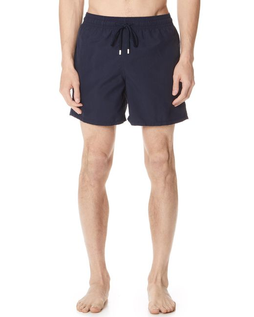 Vilebrequin - Blue Solid Swim Trunks for Men - Lyst