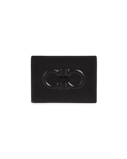 Ferragamo - Black Firenze Logo Card Case for Men - Lyst