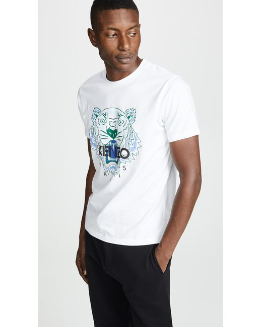 ece13784f68 KENZO Tiger Tee in White for Men - Save 17.31843575418995% - Lyst