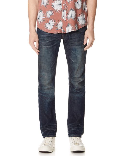 Fabric-Brand & Co. - Blue Selvedge Slim Fit Jeans for Men - Lyst