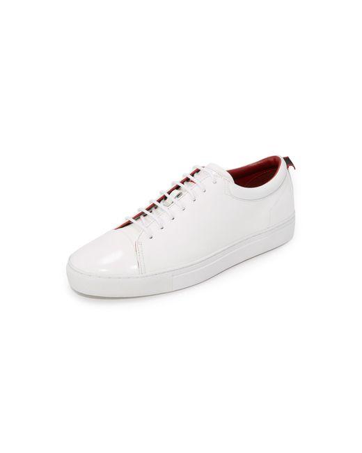 HUGO | White Brush Off Leather Sneakers for Men | Lyst