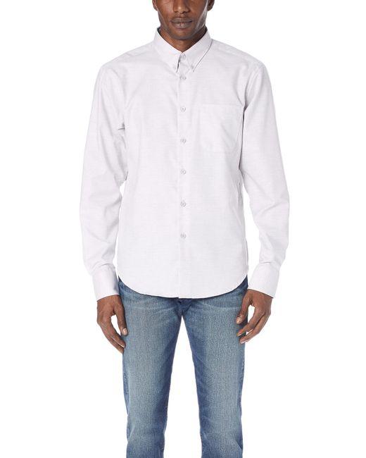Naked & Famous - Black Flower Dyed Oxford Shirt for Men - Lyst