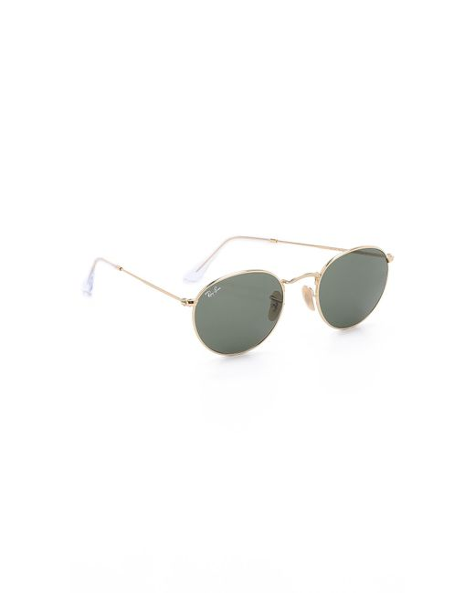 Ray-Ban - Metallic Round Metal Sunglasses for Men - Lyst
