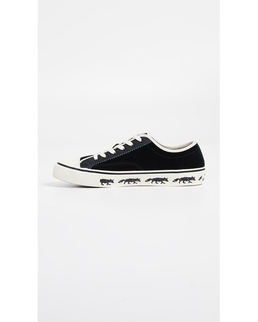 new product e045e c32ad ... PS by Paul Smith - Black Low Top Fox Sole Sneakers for Men - Lyst ...
