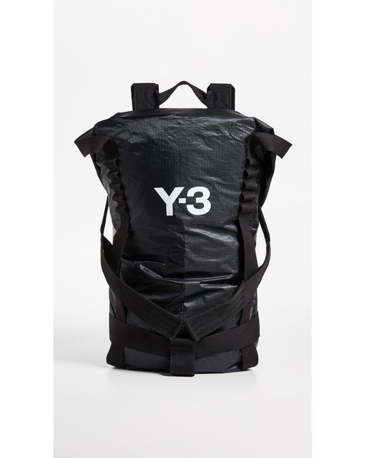 Y-3 - Black Itech Backpack for Men - Lyst ... 52b4130088a72