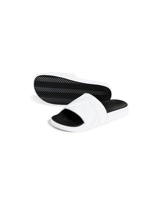 size 40 3c5b8 b5754 ... Alexander Wang - White Adilette Rubber Slide Sandals for Men - Lyst ...