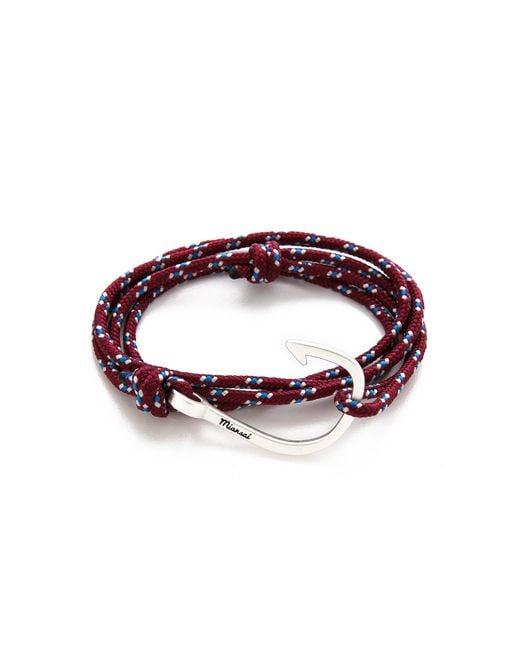 Miansai - Metallic Hooked Rope Wrap Bracelet for Men - Lyst