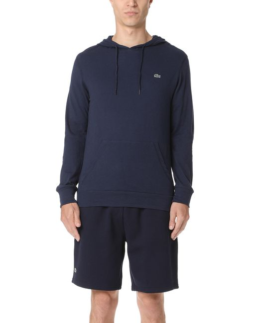 Lacoste | Blue Hooded Tee for Men | Lyst