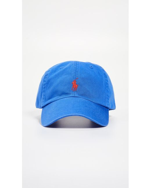 6f008febdad Polo Ralph Lauren - Blue Classic Pony Cap for Men - Lyst ...