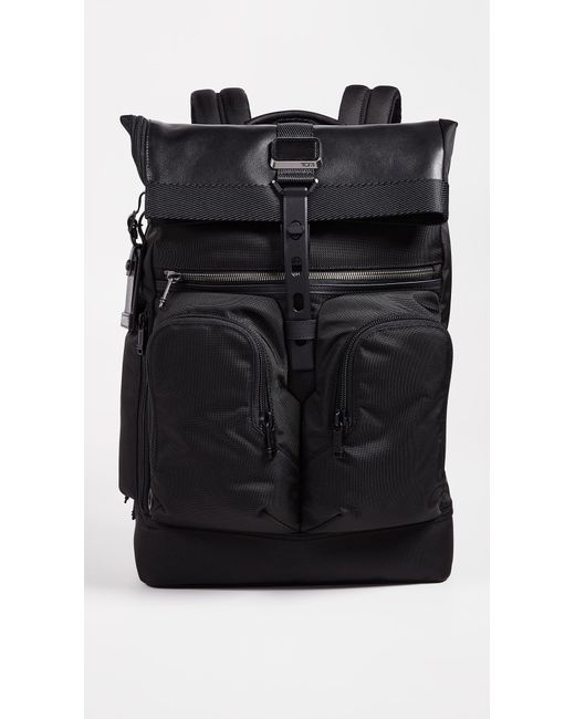 Tumi - Black Alpha Bravo London Rolltop Backpack for Men - Lyst