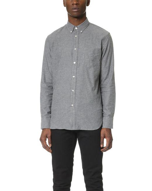 Rag & Bone - Gray Standard Issue Lightweight Flannel Shirt for Men - Lyst