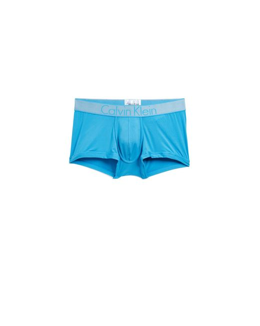 Calvin Klein - Blue Customized Stretch Low Rise Trunks for Men - Lyst