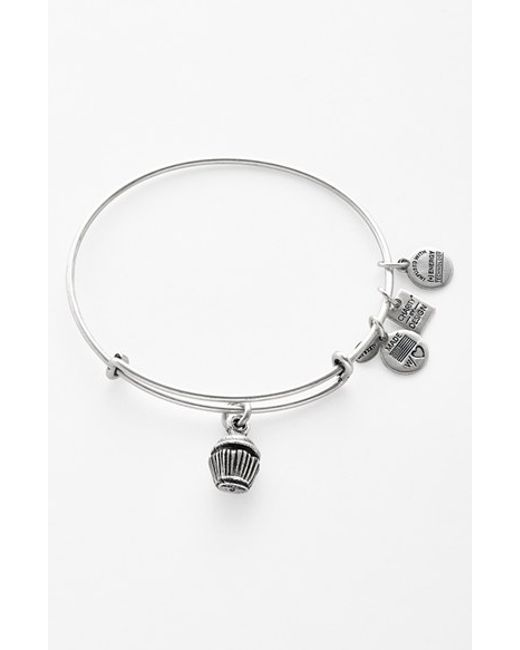 ALEX AND ANI | Metallic 'charity By Design - Cupcake' Expandable Wire Bangle | Lyst