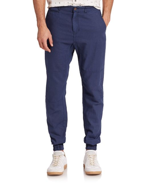 Madison Supply | Blue Woven Linen/cotton Jogger Pants for Men | Lyst