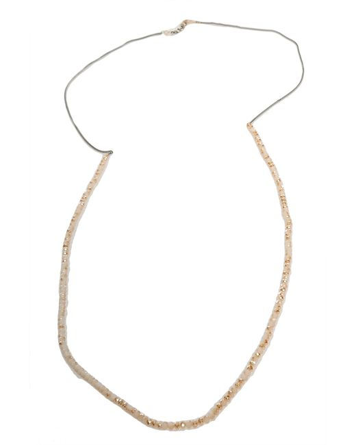 Chan Luu | Metallic Champagne Diamond And Sterling Silver Double Layer Necklace | Lyst