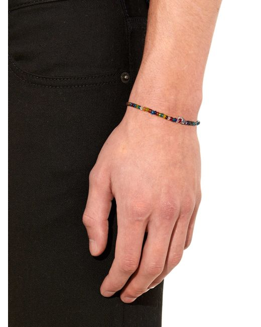 Luis Morais   Multicolor Bead And White-Gold Bracelet for Men   Lyst