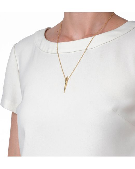 Luis Morais | Metallic Square Spike Necklace | Lyst