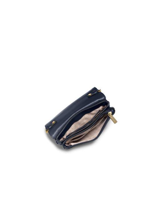 Michael Kors | Blue Bedford Leather Crossbody | Lyst