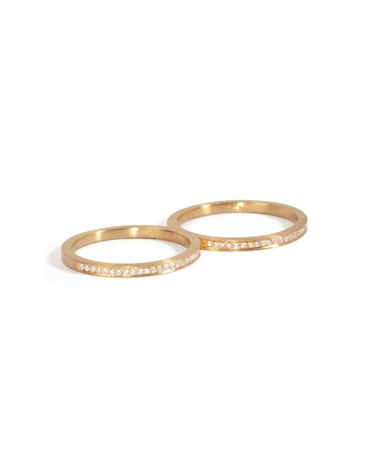Sophie Bille Brahe | Metallic Gold/diamond Rue De Diamant Double Ring | Lyst