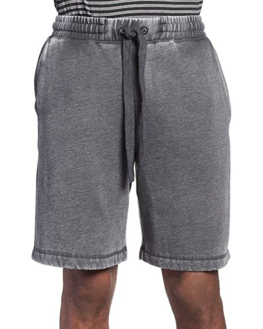 Daniel Buchler | Black Washed Cotton Blend Lounge Shorts for Men | Lyst