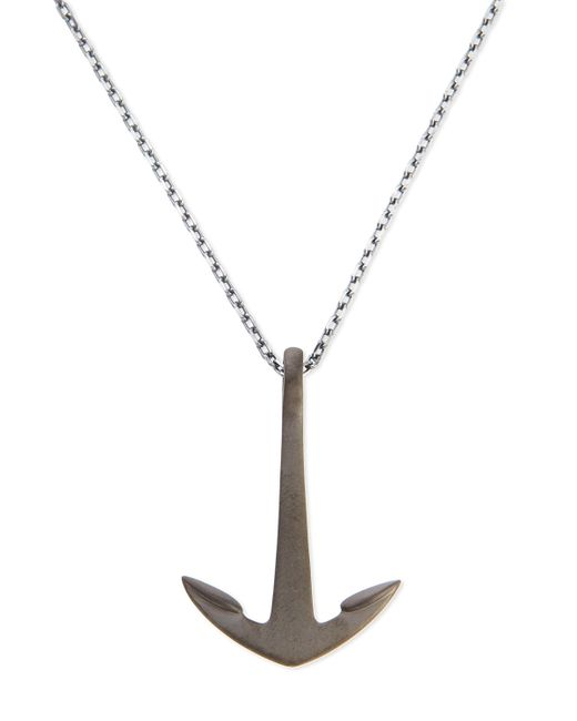 Miansai   Metallic Anchor Pendant Necklace   Lyst