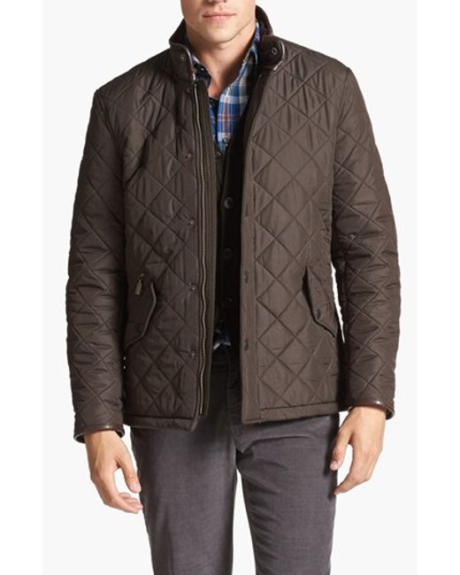 Barbour | Green 'powell' Regular Fit Quilted Jacket for Men | Lyst