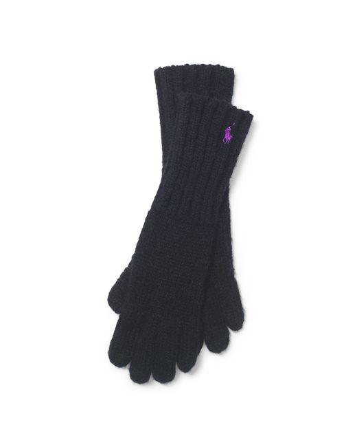 Polo Ralph Lauren | Black Embroidered Logo Gloves | Lyst