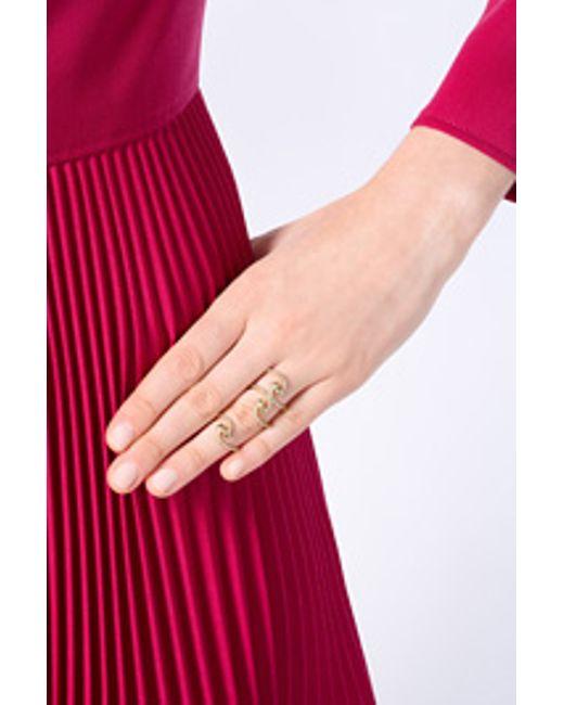 Ileana Makri | Metallic Yellow Gold Snake Parade Ring With Diamonds | Lyst