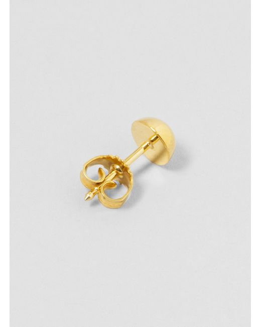 Katrine Kristensen | Metallic Kk13-06 Large Half Sphere Ear Stud Brass | Lyst