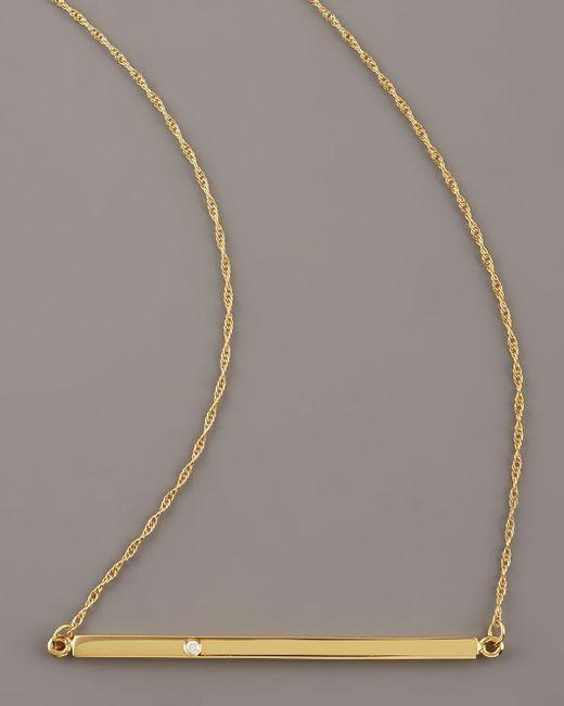 Jennifer Zeuner | Metallic Bar-pendant Necklace | Lyst